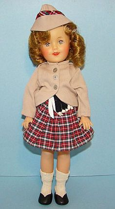 Ideal Shirley Temple Vinyl Wee Willie Winkie Doll 1960 - For sale on Ruby Lane
