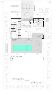 Modern von vismaracorsi arquitectos, modern Here are some photos of interior design ideas. Modern House Plans, Small House Plans, House Floor Plans, Villa Plan, Layouts Casa, House Layouts, Home Design Plans, Plan Design, Design Ideas