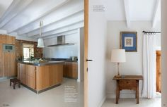 Campos chateau / country house rental - State-of-the-art Gaggenau kitchen on left, bedroom on right
