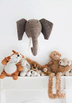 Decorative animal head | Mister Elephant from www.bodieandfou.com