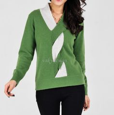 woman knitwear knitting/lady cable v neck sweater loose pullover wool cashmere knit
