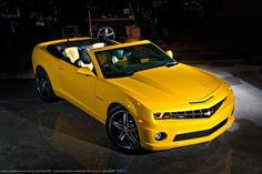 Yellow convertible Camaro