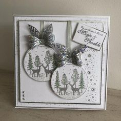 Stamps by Chloe - Winter Woodland Bauble - - Christmas Stamps by Chloe - Chloes Creative Cards Christmas Cards 2018, Stamped Christmas Cards, Christmas Card Crafts, Xmas Cards, Handmade Christmas, Holiday Cards, Christmas Things, Christmas Tree, Card Making Inspiration