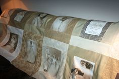 50th Wedding Anniversary Memory Quilt with couples old wedding photos!