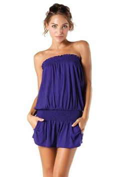 Alki'i short one-piece Rompers Jumpsuit with elastic bust and waist $24.99