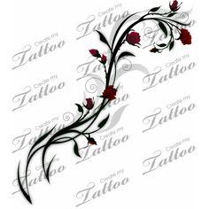 Vine of Roses tattoo design