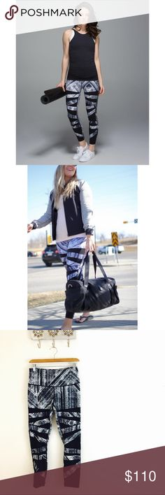 Lululemon Heat Wave High Times 7/8 pant, perfect condition. Full on Luon fabric. lululemon athletica Pants Leggings