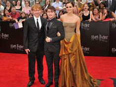 Rupert Grint, Daniel Radcliffe and Emma Watson at Harry Potter and the Deathly Hallows - Part 2: NY Premiere.