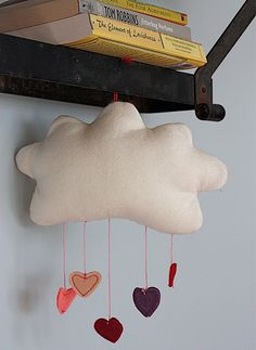 diy cloud and heart mobile