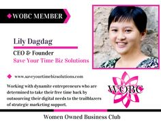 WOBC Member : Lily Dagdag - CEO & Founder - Save Your Time Biz S...