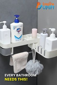 ON SALE & HOT SALE! Buy 2 Get Extra OFF (Code: Rotating Shower Caddy 😍 Now, you can make clever and convenient use of your shower space, using this smart Rotating Shower Caddy! Let's face it, everyone's guilty of leaving their bath and shower area Cool Kitchen Gadgets, Home Gadgets, Cooking Gadgets, Bathroom Storage, Small Bathroom, Shower Storage, Bathrooms, Diy Home Crafts, Diy Home Decor