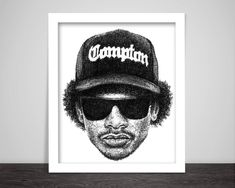 Scribbled Eazy E - Hip Hop Poster by ScribbleZone on Etsy https://www.etsy.com/listing/256982816/scribbled-eazy-e-hip-hop-poster