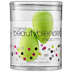 beautyblender® micro.mini: a duo of mini sponge applicators that allow you to contour, highlight, and precisely apply makeup on the smallest parts of the face.  #Sephora