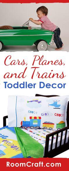 Toy Trains Toddler Bedding Set