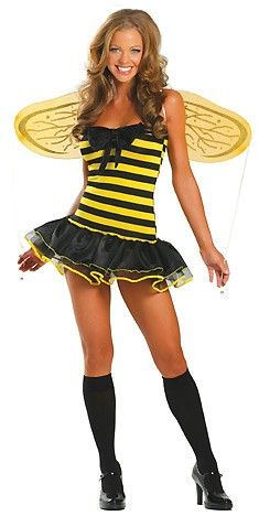 Charming Yellow Busy Bee Cosplay Costume Set