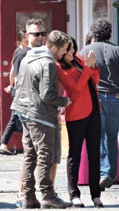 Lana & Sean on set - August 21, 2015