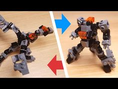 [LEGO Mini Robot Tutorial] Dragon type LEGO transformer mech/ミニレゴ変身ロボ/미니 레고 변신로봇 - YouTube Lego Moc, Lego Robot, Lego Design, Robot Dragon, Lego Transformers, Lego Sculptures, Micro Lego, Lego Army, Cool Robots