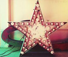 Vintage sign - star