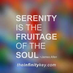 "This is an audio recording of the Serenity chapter from James Allen's book ""As a Man Thinketh"". The importance of serenity can not be overstated. I would recommend listening to this often!"