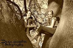 Best friends. Preteen country girl.