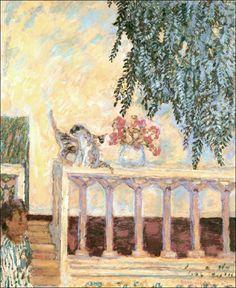 Pierre Bonnard - Cats on the Railing, 1909