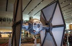The All Nippon Airway's R2-D2 plane made a side trip to Singapore's Changi Airport and CNET hopped on board for a look.