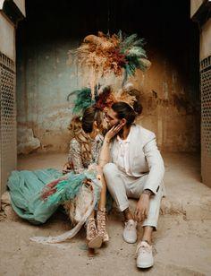 Abandoned Kasbah Elopement in Morocco Wedding Trends, Boho Wedding, Paris Wedding, Wedding Poses, Wedding Flowers, Wedding Ideas, Wedding Dresses, Mint Skirt, Handmade Engagement Rings