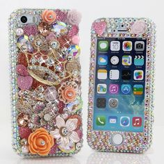 Style # 770 This Bling case can be handcrafted for iPhone 4/4S, 5, 5S, all Samsung Galaxy models (S3, S4, Note 2, 3). Our professional designers will handcraft a case for you in as little as 2 weeks. Click image for direct link