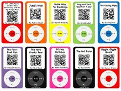 Listening Center with a Twist~SET TWO (out of Three!). Students scan the QR Code and then sit back and watch the story on their device. 20 popular stories/authors included. Check out Set ONE and Set THREE in my store for even more stories! A few stories included on this set are: The Kissing Hand, The Pout-Pout Fish, Skippy Jon Jones, Giggle, Giggle Quack and 16 more! Engaging and Fun! #iPads #iPods #ListeningCenter #QRCodes #ChildrensBooks #Stories #TeachersPayTeachers