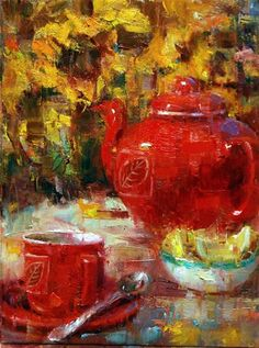 """""""Seeing Red"""" - Original Fine Art for Sale - © Julie Ford Oliver"""