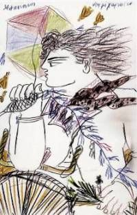 getImageΔημιουργία του Α. Φασιανού Kites Craft, Greek Art, Balloons, Anime, Crafts, February, Masks, Paintings, Carnival