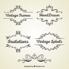 More than a million free vectors, PSD, photos and free icons. Exclusive freebies and all graphic resources that you need for your projects Vintage Frames, Antique Frames, Vintage Invitations, Vintage Labels, Label Design, Logo Design, Molduras Vintage, Vintage Borders, Geek Crafts
