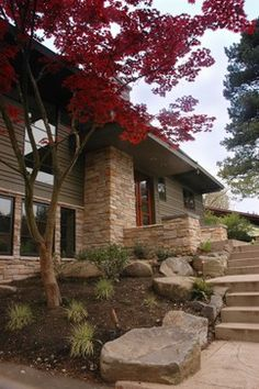 Gagnon Residence exterior remodel with landscape