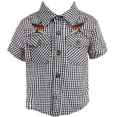 Sourpuss Mom and Dad Kids Button Up