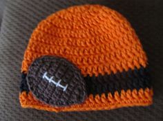 Crocheted Cotton Hat Inspired By Oregon State University Beavers Colors - Great Photo Prop. $17.99, via Etsy.