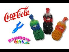 КОКА-КОЛА из резинок на рогатке без станка. Фигурки из резинок | Coca Cola Soda Bottle Charm - YouTube