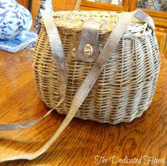 Adorable basket with a shoulder strap.  http://thededicatedhouse.blogspot.com/2013/05/my-little-shopping-spree.html