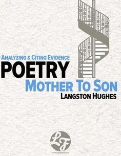 poetic devices in mother to son by langston hughes essay Mother to son by langston hughes essay by angel64647 an explication of langston hughes' mother to son poem because the.