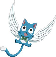 Happy from Fairy Tail is so cute!