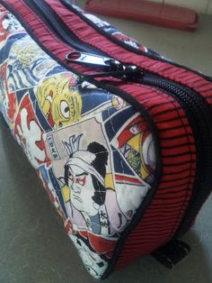 Running With Rocket: Double Zipper Pencil Case