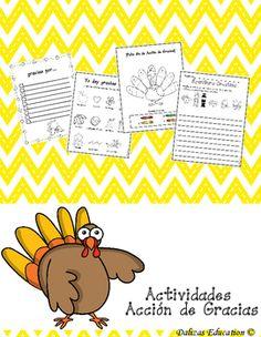 Hoja Imprimible \'Yo Doy Gracias Por\' para Niños para el Día de ...