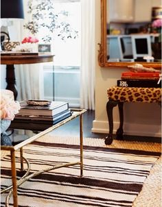 I have this stool in my bedroom but it doesn't look as good as this.  I need to dress it up I guess