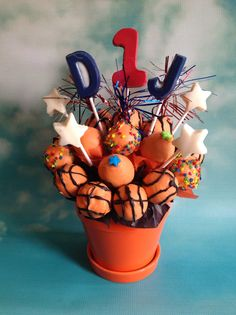 All star basketball cake pops