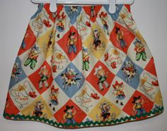 Cowgirl Skirt  Size 2 to 7 by bubblenbee on Etsy, $15.00