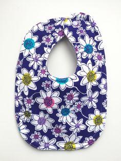 Baby Girl Bib - Dribble Bib - Baby Shower Gifts - Daisy Bibs - Drool Bibs - Floral Bibs - Toddler Bibs - Purple Bibs - Unique Baby Bibs by BeastiesBabies on Etsy