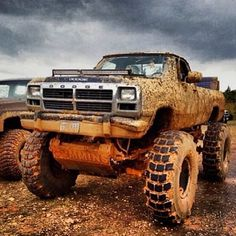 First Generation #Dodge looking gritty and monstrous. #Truck #MudisaColor #OffRoad #American #PickUp #Adventure