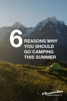 6 Reasons why you should go camping this summer - Check it out! 🏕️🗻  #Camping #tent #nature #jungfrauregion #madeinbern #inLOVEwithSWITZERLAND #switzerland Sounds Of Birds, Closer To Nature, Ways To Travel, Go Camping, Stargazing, Day Trips, Switzerland, Countryside, Tent