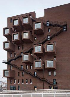 Office Building A-lab. You 42 Office building. Architecture Design, Architecture Antique, Facade Design, Amazing Architecture, Contemporary Architecture, Exterior Design, Exterior Stairs, Modern Architects, Building Facade
