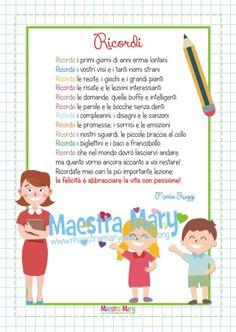 Poesia RICORDI di Maria Ruggi - Una poesia dedicata a tutti gli insegnanti che si preparano a lasciare i loro alunni. #classequinta #scuolaprimaria #fineannoscolastico #fineanno #MaestraMary