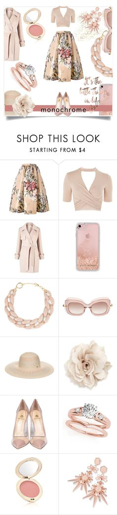 """""""Color Me Pretty: Head-to-Toe Pink"""" by kari-c ❤ liked on Polyvore featuring Fendi, Topshop, Miss Selfridge, Rebecca Minkoff, DIANA BROUSSARD, Pomellato, BCBGeneration, Cara, Semilla and Jane Iredale"""